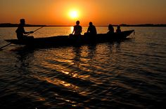 Title:  Boat In Sunset On Chilika Lake India  Artist:  Diane Lent  Medium:  Photograph - Photography