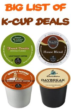 BIG List of K-Cup Deals ~ as low as 42c each + FREE Shipping! #keurig #thefrugalgirls