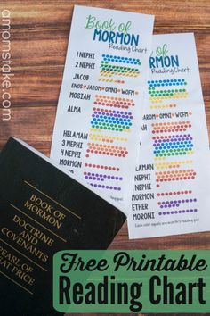 If you want to navigate the Book of Mormon, this free printable reading chart is a great tool.