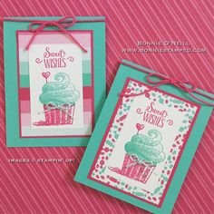 Hello Cupcake with How Sweet It Is Designer Series Paper Create Birthday Card, Kids Birthday Cards, Handmade Birthday Cards, Birthday Images, Birthday Greetings, Birthday Wishes, Birthday Quotes, Happy Birthday, Card Making Inspiration
