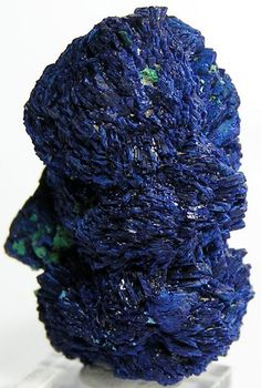 Azurite Mineral Specimen Blue Crystal Cluster by FenderMinerals,
