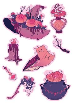 ✨✨ tbh I think her and rose bud would so hang out 😂 🌷 I wanna make 2 more flower tea witches and then I'm done! Art Drawings Sketches, Cute Drawings, Character Art, Character Design, Witch Drawing, Posca Art, Mystique, Witch Art, Witch Aesthetic