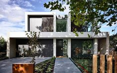 Contemporary Home Builders Melbourne, Residential Architecture Construction Melbourne Townhouse Designs, Duplex House Design, Modern House Design, Facade Design, Exterior Design, Residential Architecture, Architecture Design, Villa, Facade House