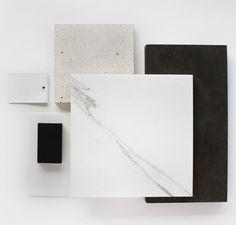 Sample Selection - Carrara Marble Stone with dark veneer