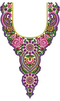 Shop online Embroidery Design for Designer dresses like Traditional party dresses, etc for ladies by great brands like all and many more at embdesigntube, India's one of the leading Embroidery Design & Service Professional Company. Border Embroidery Designs, Free Machine Embroidery Designs, Diy Embroidery, Embroidery Stitches, Embroidery Patterns, Dress Neck Designs, Collar Designs, Irish Crochet, Textiles