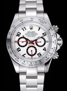Rolex Cosmograph Daytona Stainless Steel White Dial White Bezel 1454242