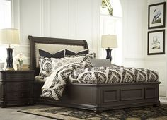 Bedrooms, Hathaway Queen Upholstered Fabric Bed, Bedrooms | Havertys Furniture
