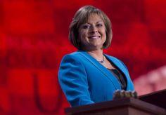 Susana Martinez http://www.cosmopolitan.com/advice/work-money/20-women-to-watch-in-politics-in-2014