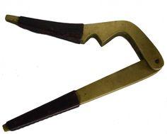 "Carl Auböck II Leather Bound Brass Nutcracker. 1950s Dimension: Length: 6.25\""Length: 17 cm Signed inside with impressed manufacturer's mark: [Aubock Made in Austria].  #4234 L (Catalogue Number)"