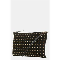 Topshop Studded Suede Clutch
