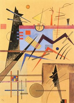 'Grey-Grey-Brown No. 138' - (1924) - Wassily Kandinsky.