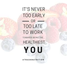 It is important to take care of your body! Today can be the day you start!  #trasknutrition #healthylife #nutrition #health #healthylifestyle