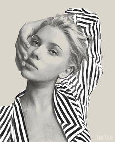 Scarlett by Kei Meguro, via Behance