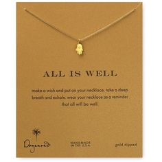 """Dogeared All is Well Hamsa Necklace, 18"""" and other apparel, accessories and trends. Browse and shop 8 related looks."""