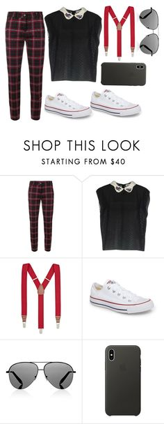"""""""Suspenders"""" by nora-amjed ❤ liked on Polyvore featuring Cambio, BELAIR, Club Room, Converse, Victoria Beckham and Apple"""