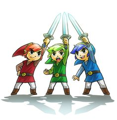 The Legend of Zelda: Tri Force Heroes - #E3 official artwork | #3DS #TriForceHeroes