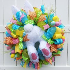 This item is unavailable Bunny Butt Wreath Easter Wreath Bunny Wreath Easter Bunny Wreath Crafts, Diy Wreath, Mesh Wreaths, Holiday Wreaths, Spring Wreaths, Easter Wreaths Diy, Diy Ostern, Easter Colors, Easter Crafts