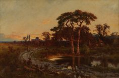 Henry H Parker Near Godalming, Surrey Oil on Canvas x European Paintings, Surrey, Oil On Canvas, 19th Century, Art, Art Background, Painted Canvas, Kunst, Oil Paintings