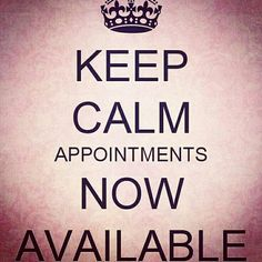 I have appointments now open for Thursday and Friday! Salon Quotes, Hair Quotes, Waxing Memes, Hairstylist Quotes, Hairdresser Quotes, Salon Promotions, Business Hairstyles, Salon Business, Beauty Studio