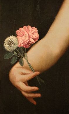 File:Guido cagnacci, allegoria dle tempo (la vita umana), 1650 ca. 02 rosa e soffione. Renaissance Kunst, Renaissance Paintings, Aesthetic Painting, Aesthetic Art, Detailed Paintings, Hand Flowers, Victorian Art, Old Paintings, Hand Art
