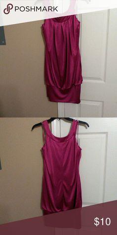 Juniors dress Fuchsia color dress. No tags. Never worn Dresses