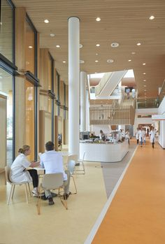 LIAG architects were tasked with the design for the Princess Máxima Centre for Child Oncology located in Utrecht, Netherlands. The Princess Máxima Centre for child oncology … Healthcare Architecture, Healthcare Design, Interior Architecture, Interior Design Portfolios, Interior Design Magazine, Modern Hospital, Dental Office Design, School Design, Lobby Interior