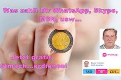Was zahlt Dir WhatsApp, Skype, MSN, usw...?