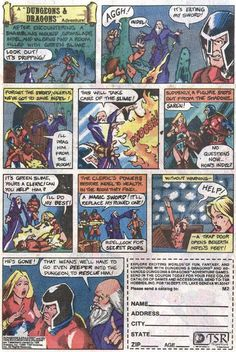 Crunchy Dice - An RPG Blog: TSR Dungeons and Dragons comic book advertisements - Page 2 of 8