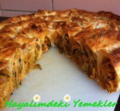 Hazır Yufka ile Kıymalı Pırasalı Kol Böreği – Hayalimdeki Yemekler