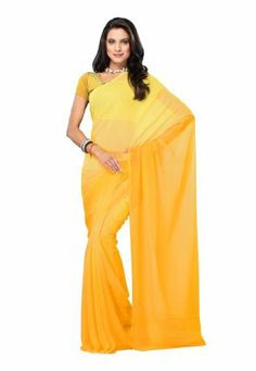 Indian Designer Wear Georgette Yellow Plain Saree Fabdeal, http://www.amazon.de/dp/B00J0UWA0O/ref=cm_sw_r_pi_dp_2R6otb09P8RKC