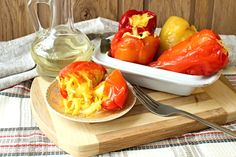 Papriky plněné zelím