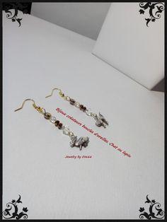 Bijoux créateurs boucles d'oreilles. Chat ou lapin de la boutique LamaisonEt666 sur Etsy