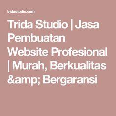 Trida Studio | Jasa Pembuatan Website Profesional | Murah, Berkualitas & Bergaransi