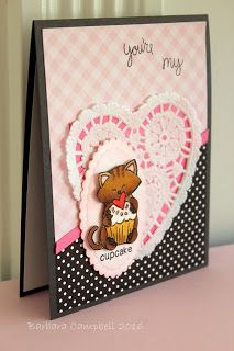 My creative Room: Inky Paws Challenge #28 - Love Theme | Love a la Carte & Newton's Birthday Bash stamp sets by Newton's Nook Designs #newtonsnook