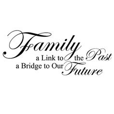 Amazon.com - Family, A Link To The Past, A Bridge To Our Future - Love Home Wall Decal Lettering Decoration Decorative Adhesive Vinyl Quote ...