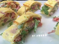 Pfannkuchen mit Schinken/Käse/Tomate - fast fettfrei - - YouTube