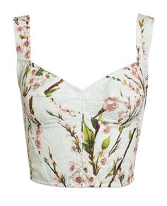 acb82b0d3102d8 Dolce and Gabbana Floral Printed Textured Bralet