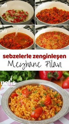 Meyhane Pilavı ( Domatesli Bulgur Pilavı) (videolu) – Nefis Yemek Tarifleri – Pilav tarifi – The Most Practical and Easy Recipes Turkish Recipes, Ethnic Recipes, Iftar, Homemade Beauty Products, Pie Recipes, Food Pictures, Salsa, Yummy Food, Delicious Recipes