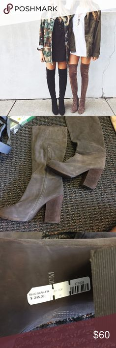 Jeffrey Campbell Knee High Boots Brand new with tags. A steal for this brand! Jeffrey Campbell Shoes Over the Knee Boots
