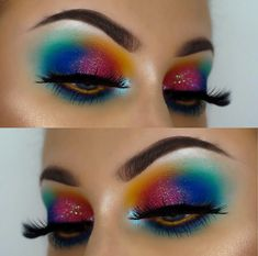 Brown Eyeshadow, Eyeshadow Looks, Makeup Trends, Makeup Ideas, Rainbow Makeup, Brow Gel, Eye Make Up, Insta Makeup, Makeup Art