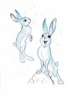 Flipbooks and Stuff: John Lewis Christmas Spot – Rune Bennicke Animal Sketches, Animal Drawings, Art Sketches, Rabbit Drawing, Rabbit Art, Character Design References, Character Art, Cartoon Drawings, Art Drawings
