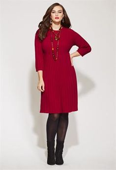 Allover ribbed maroon Sweater Dress Plus Size Plus Size Sweater Dress, Sweater Dress Outfit, Knit Dress, Sweater Dresses, Plus Size Dresses, Plus Size Outfits, Short Dresses, Curvy Girl Fashion, Plus Size Fashion