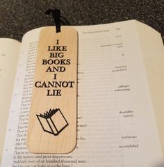 Wooden bookmark with