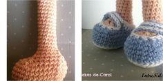 Si estáis haciendo una muñeca a crochet, ¡os vendrá bien saber cómo hacer los pies de manera fácil!