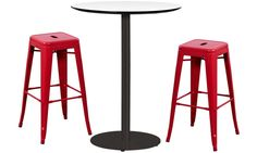 With my black cast iron base that's both contemporary and durable, I'm ideal for a cafe, bar, kitchen, or open workspace. Cafe Furniture, Round Bar, Bar Counter, Cast Iron, Bar Stools, Contemporary, Table, Home Decor, Bar Stool Sports