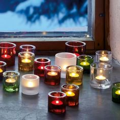 KIVI Collection for tea lights by ittala - various colors and two sizes Candle Lanterns, Candle Jars, Candle Holders, Candles, Design Online Shop, Light My Fire, Merry Christmas To All, Housewarming Party, Winter Solstice
