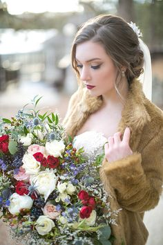 This affair with its elegant winter wedding inspiration gives us a dose of cranberry, blues, whites and copper goodness that may just lead to a color crush. Wedding Planning Tips, Wedding Tips, Luxury Wedding, Wedding Styles, Wedding Photos, Dream Wedding, Strictly Weddings, Unique Weddings, Elegant Winter Wedding