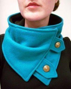 Интересная идея шарфика. Отлично защищает от ветра!