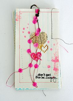 Mini journal #art #journal #scrapbook