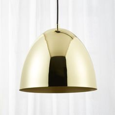 Capitol Small Brass Bell Pendant Light - All For Decoration Kitchen Pendant Lighting, Kitchen Pendants, Modern Pendant Light, Modern Chandelier, Chandeliers, Pendant Lights, Modern Home Bar, Gold Interior, Interior Modern